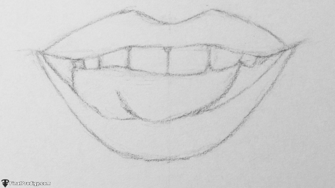 How to Draw a Human Mouth - FinalProdigy.com