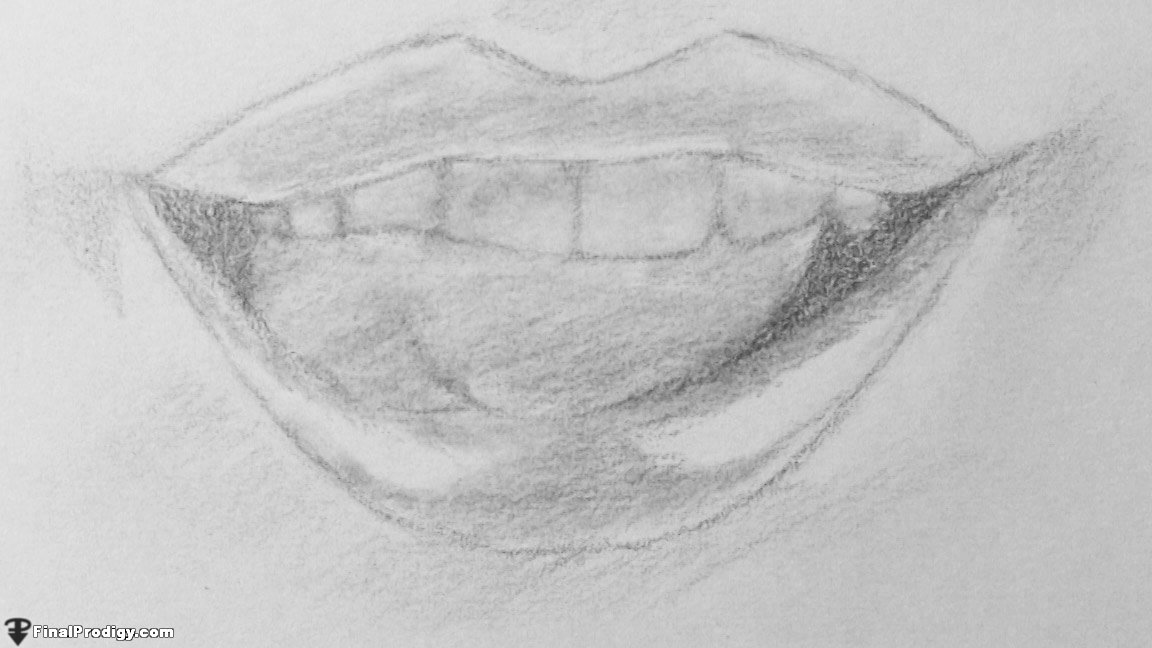 how to draw human lips